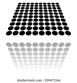 Dotted surface with perspective