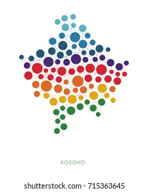dotted texture Kosovo vector background