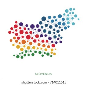 dotted texture Slovenija vector background