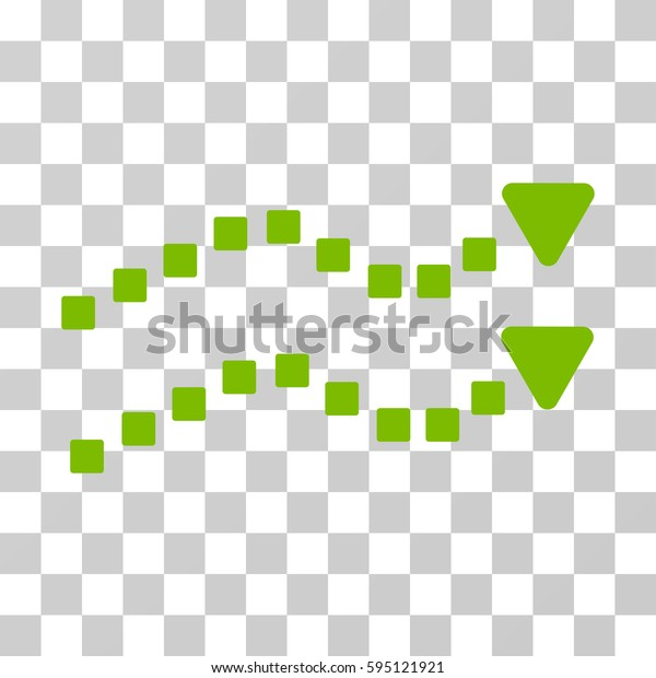 Dotted Trend Lines icon. Vector illustration style is flat iconic symbol, eco green color, transparent background. Designed for web and software interfaces.