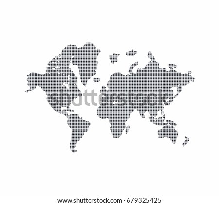 Dotted world map vector stock vector royalty free 679325425 dotted world map vector gumiabroncs Choice Image