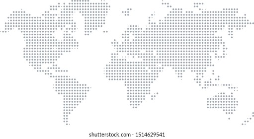 Dotted World Map Vector Background