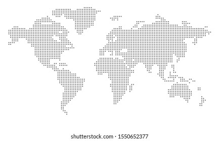 Dotted world map. Vector design illustration