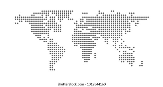 Dotted world map. Vector eps10