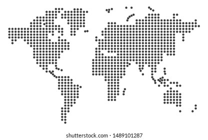dotted world map in vector format