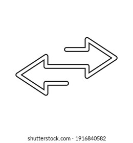 Double arrow icon design isolated on white background.