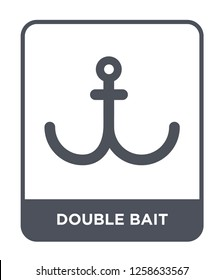 double bait icon vector on white background, double bait trendy filled icons from Nautical collection, double bait simple element illustration, double bait simple element illustration