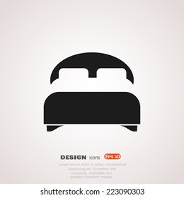 double bed, web icon. vector design