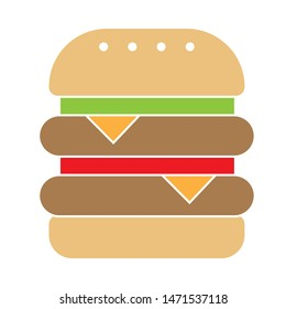 Double burger icon. flat illustration of Double burger - vector icon. Double burger sign symbol