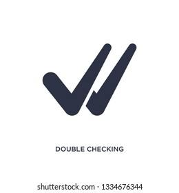 double checking icon. Simple element illustration from user interface concept. double checking editable symbol design on white background. Can be use for web and mobile.