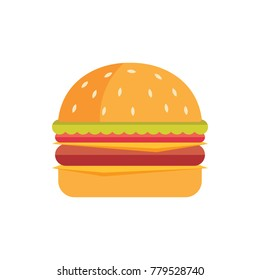 Double cheese beef burger illustration vector
