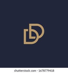 Double D letter logo with interlocked accent. D & D logo.