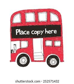 double decker bus vector/illustration
