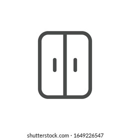 両開きの冷蔵庫のアイコン。モダン、シンプル、ベクター画像、ウェブサイトデザイン用のアイコン、モバイルアプリ、UI。 ベクターイラスト