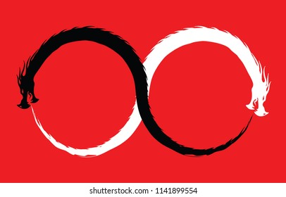 Double Dragon Infinity Symbol