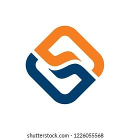 Double G Letter Logo Design Template