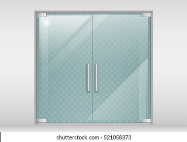 Double glass doors to the shopping center or office. Vector graphics with transparency effect  sc 1 st  Shutterstock & Glass Door Stock Images Royalty-Free Images \u0026 Vectors | Shutterstock
