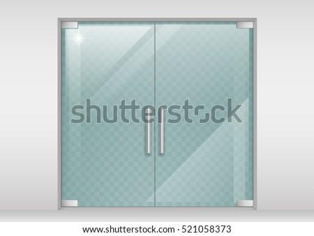 Double glass doors to