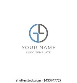 Double Letter G or Letter GG Logo Template