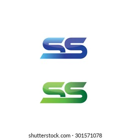 Double letter S in green and blue versions