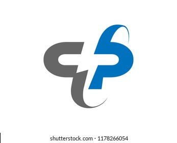 """Double P flip letter logo with negative space power (volt, lightning) electric symbol in the center of """"P"""""""