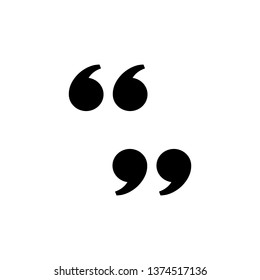 double quote mark icon, left and right, vector design inspiration
