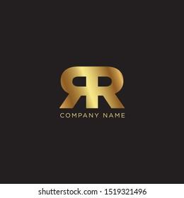 Double R golden Logo design - vector