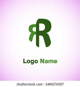 Double R Letter Logo template vector icon design.