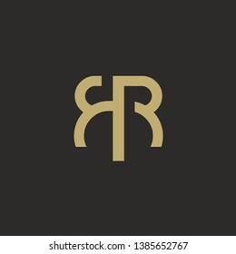 Double R Vintage luxury monogram logo icon
