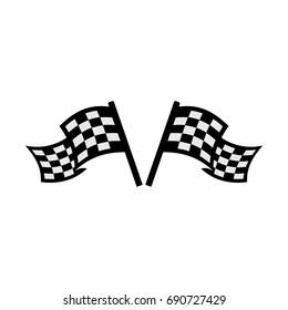 double racing flag icon.