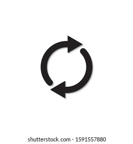 Double reverse arrow. Replace icon. Exchange sign isolated on white background. Vector illustration