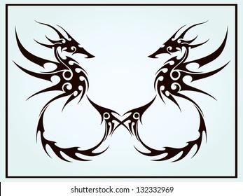Double Sea Horse Tattoo