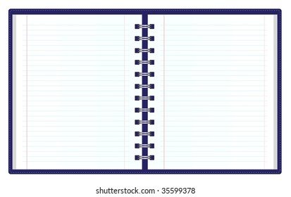 double sided striped notebook