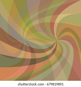Double swirl background - vector design from rotated rays in colorful tones
