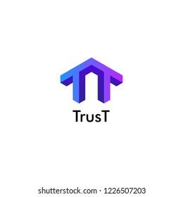 Double T logo template, Creative, Innovative