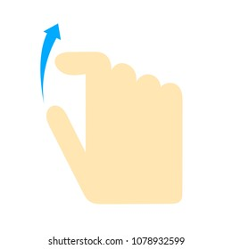 Double tap finger - pointer icon - vector cursor symbol, touch symbol - mouse sign - hand scroll up