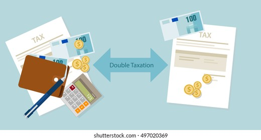 Double Taxation concept payment  taxed twice