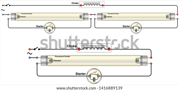 Twin Tube Fluorescent Light Wiring Diagram - Database