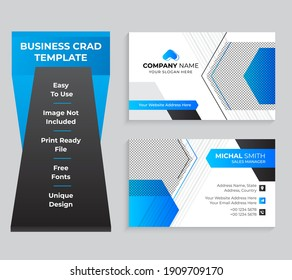 Double-sided Modern Business Card Template Design