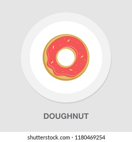 doughnut icon - cake or dessert snack - bakery pastry icon