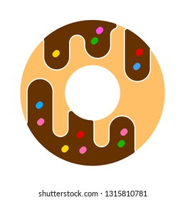 doughnut icon - cake or dessert snack - bakery pastry icon