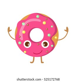 Cute Donut Pastel Sprinkles Spring Yummy Garden Yard Flag