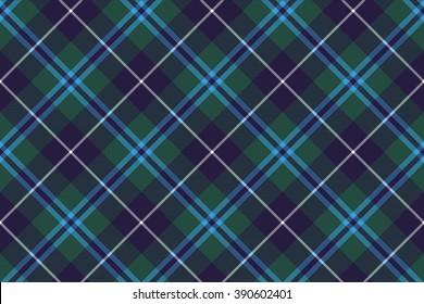 douglas tartan fabric texture seamless diagonal pattern .Vector illustration. EPS 10. No transparency. No gradients.