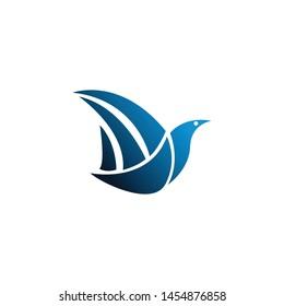 a dove animal logo template
