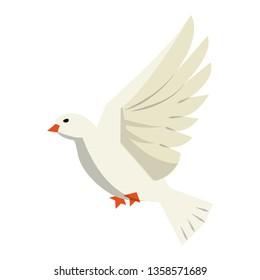 Dove bird flying cartoon