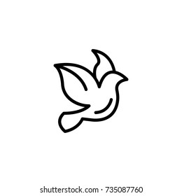 Dove flat icon. Single high quality outline symbol of wedding for web design or mobile app. Thin line signs of love for design logo, visit card, etc. Outline logo of happy
