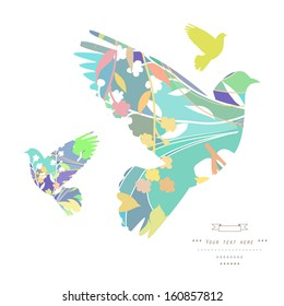 Dove. Gentle illustration in vector on white background
