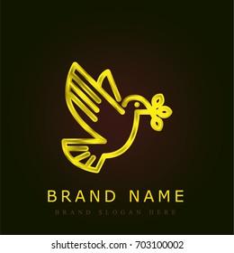 Dove golden metallic logo
