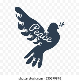 dove icon as the concept of the world