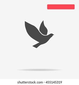 Dove icon. Vector concept illustration for design.